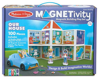 Melissa & Doug Melissa Doug 100-Piece Magnetivity Magnetic Building Play Set - Our House with Vehicle 16 Panels, 80 Accessory Magnets