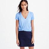 J.Crew Linen cool-dye pocket T-shirt