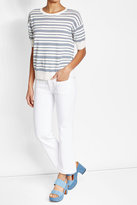 Closed Striped Linen and Cotton Top