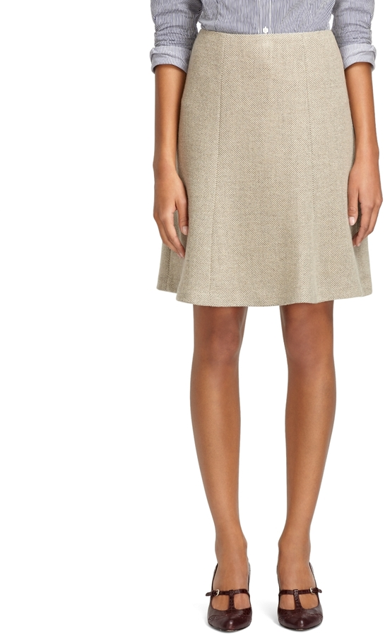 Brooks Brothers Cashmere and Wool A-Line Skirt