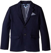 Tommy Hilfiger Knit Blazer with Gingham Lining Boy's Jacket