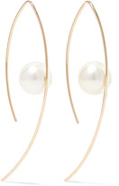 Mizuki 14-karat Gold Pearl Earrings - one size