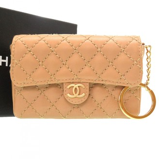 Chanel Beige Leather Clutch bags