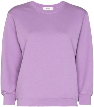 AGOLDE Thora cropped sleeve sweatshirt