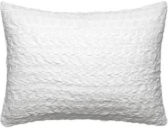 "Vera Wang Linear Tucks 15"" x 20"" Decorative Pillow - White"