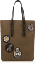 Alexander McQueen Badge-embellished canvas tote