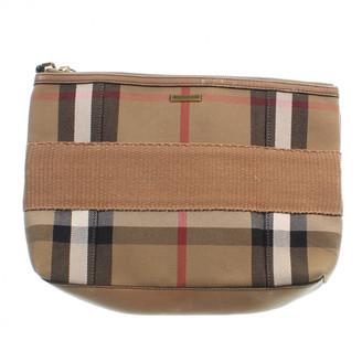 Burberry Orange Cloth Clutch bags
