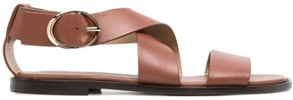 Doucal's Crossover Strap Sandals