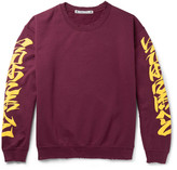 Sasquatchfabrix. - Iroha Distressed Fleece-back Cotton-blend Jersey Sweatshirt