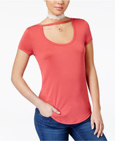 Almost Famous Juniors' Soft Scoop-Neck T-Shirt