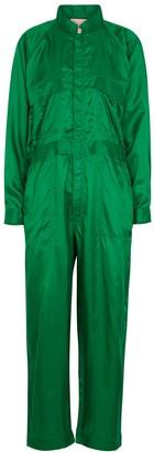 Plan C Emerald green cupro jumpsuit