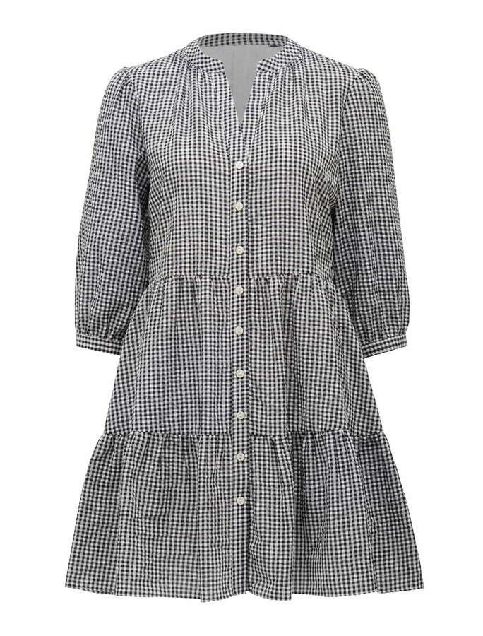 Thumbnail for your product : Ever New Gina Petite Gingham Smock Dress