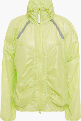 adidas by Stella McCartney Ruched Neon Shell Track Jacket