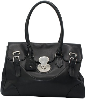 Ralph Lauren Ricky Black Leather Handbags