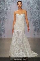 Monique Lhuillier Women's 'Farren' Strapless Lace Trumpet Dress