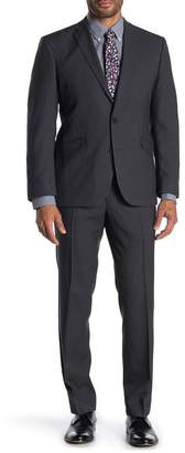Kenneth Cole Reaction Techni-Cole Slim Fit Pin Dot Pattern Suit