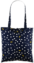 Radley Vintage Dog Dot Fabric Tote Bag, Navy