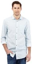 Mantaray Big And Tall Dark Turquoise Wave Print Shirt