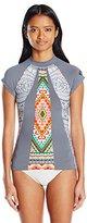 Rip Curl Women's Mayan Sun Printed Short Sleeve Rashguard
