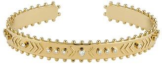 Marlo Laz Arrow Raw Cuff Bracelet - Yellow Gold