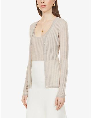 Gabriela Hearst Homer V-neck cashmere and silk-blend cardigan