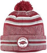 New Era Men's Cardinal Arkansas Razorbacks Sideline Home Cuffed Knit Hat