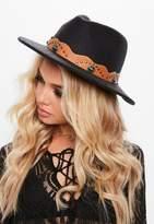 Missguided Black Western Fedora Hat