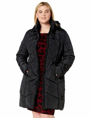 Big Chill Women's Plus Size Faux Memory Maxi Coat