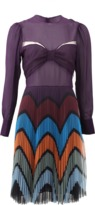 Mary Katrantzou Beta Tulle Chevron Dress