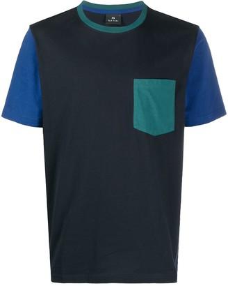 Paul Smith colour-block crew-neck T-Shirt