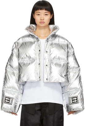 Off-White Silver Down 3D Cropped Puffer