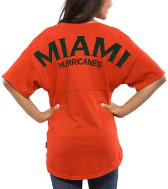 Unbranded Women's Orange Miami Hurricanes Spirit Jersey Oversized T-Shirt