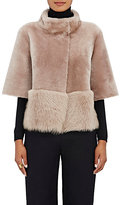 Barneys New York Women's Lamb Shearling Coat-PINK