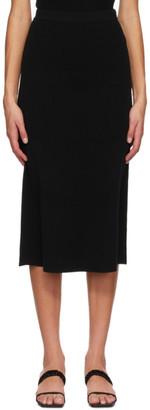 Totême Black Wool Serpa Skirt