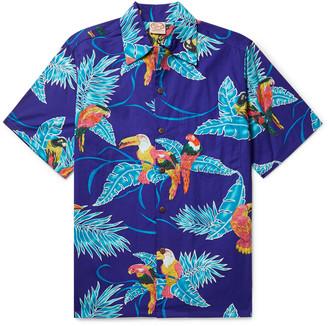 Go Barefoot Tropical Birds Printed Cotton Shirt