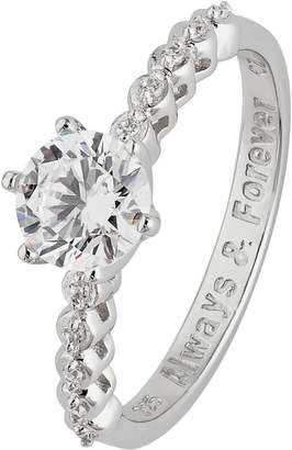Revere Sterling Silver Solitaire Message Ring