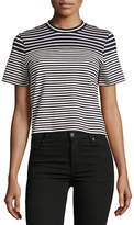 Mo&Co. Edition10 Striped Cropped Tee