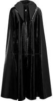 Balenciaga Patent-leather Hooded Cape - Black