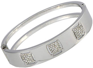 Swarovski Crystal Rhodium Plated Stainless Steel Bracelet