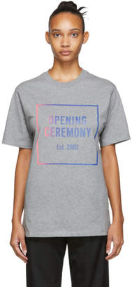 Opening Ceremony Grey Ombre Box Logo T-Shirt