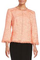 Trina Turk Tweed Open Front Blazer
