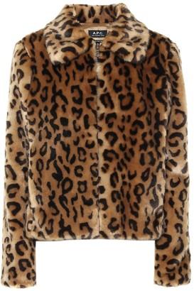 A.P.C. Margot leopard-print faux fur jacket