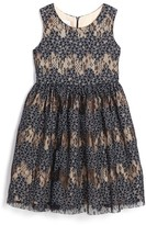 Frais Toddler Girl's Floral Lace Dress