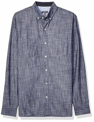 Van Heusen Men's Never Tuck Long Sleeve Button Down Solid Shirt
