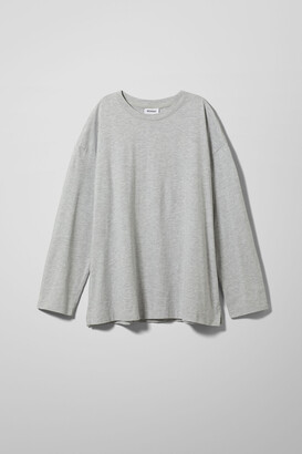 Weekday Chemina Printed Long Sleeve - Grey