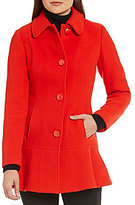 Kate Spade Fit-and-Flare Short Wool Coat