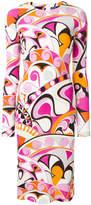 Emilio Pucci printed long-sleeve midi dress