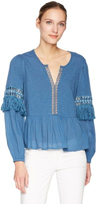 Lucky Brand Women's Cutout Peasant TOP