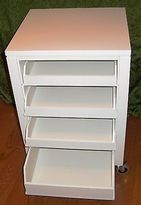 Martha Stewart Living 31 Craft Cart - White - 4 Trays With Locking Casters-wood