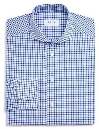 Eton Thick Check Slim Fit Dress Shirt